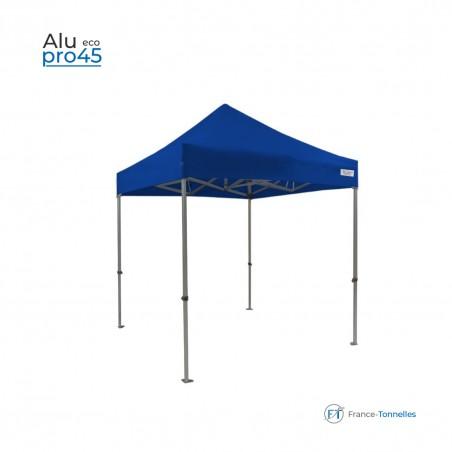Tonnelle pliante aluminium bleue carrée