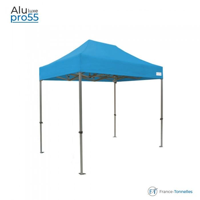 Tonnelle pliante bleu turquoise Aluminium sans murs