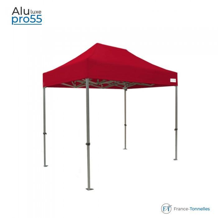 Tonnelle pliante rouge Aluminium