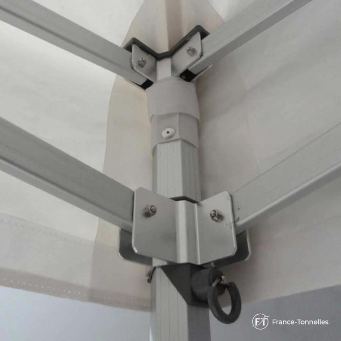Haut de pied d'angle tonnelle aluminium 55 Luxe