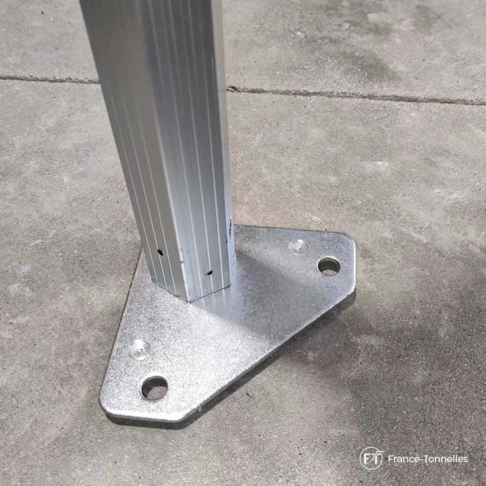 Platine de pied tonnelle Aluminium