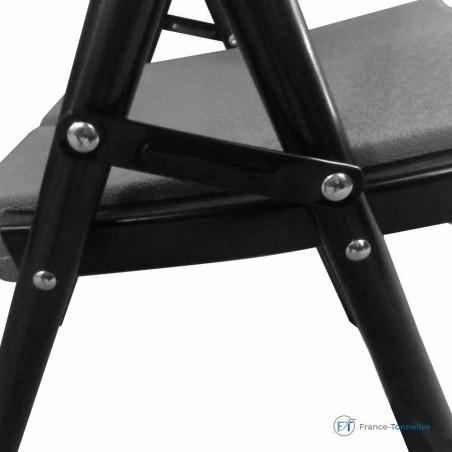 Chaise pliante grise pour soirées