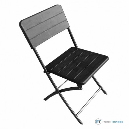 Chaise noire pliante pour soirée