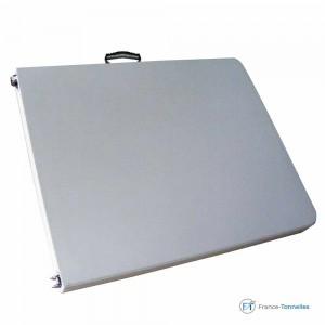 Table rectangulaire valise facile à transporter