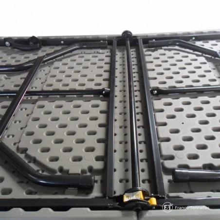 table rectangulaire pliable en valise