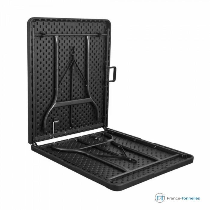 Table rectangulaire pliante en valise