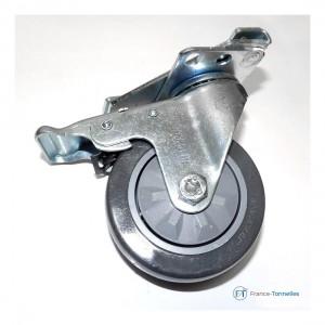 Roulette pivotante à freins pour Tonnelle Pliante