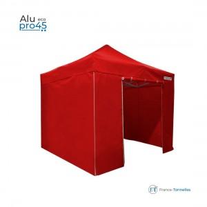 Tente pliante petit prix avec structure aluminium 6m² blanc