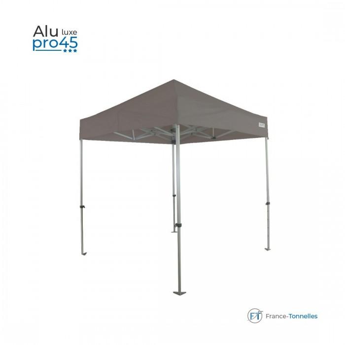 Tente pliante pas chère avec structure aluminium 13,5m² blanc sans côtés