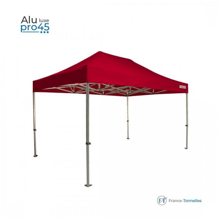 Tente pliante pas chère avec structure aluminium 13,5m² rouge