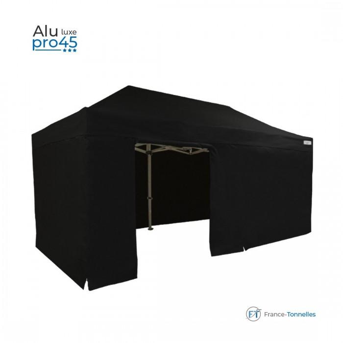 Abri pliant discount avec structure aluminium 18m² blanc