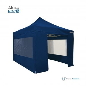 Stand pliant discount avec structure aluminium 18m² bleu