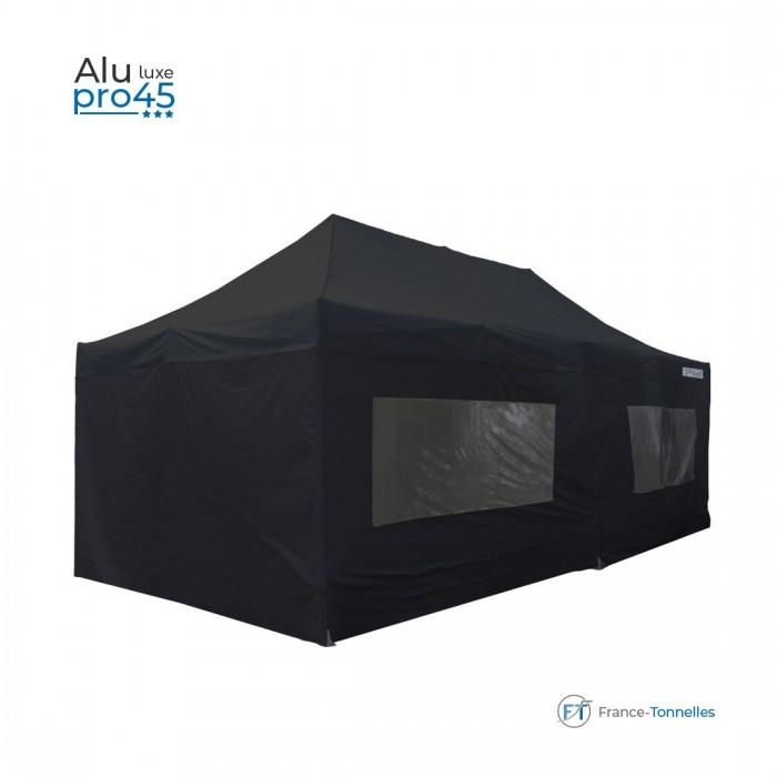 Tente pliable blanche professionnelle 13,5m² avec une structure en aluminium 55 & bâches étanches en polyester + enduction PVC