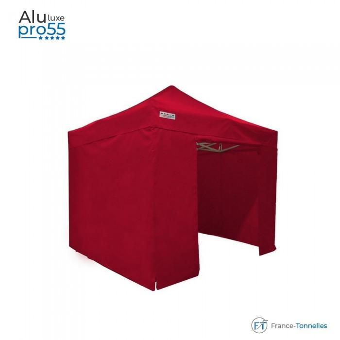 Tente pliante en acier 30 4m² de couleur rouge