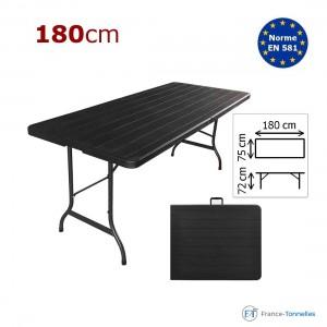 Table rectangulaire noire pour festivités