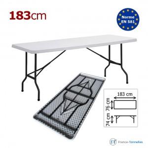 Table rectangulaire blanche pour repas
